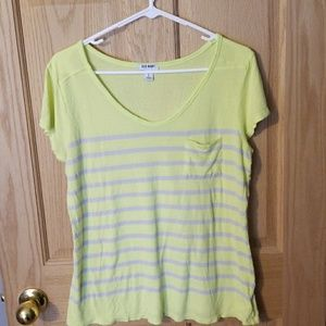 Yellow and Gray striped tee